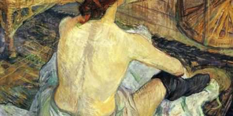 12 Henri de Toulouse-Lautrec (1864-1901)   Carmen Gaudin  Red-Haired Woman The Toilette. 1889.
