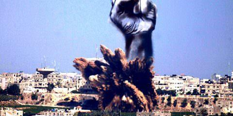 Gaza-airstrike-smoke-fist-by-Tawfik-Gebreel-1