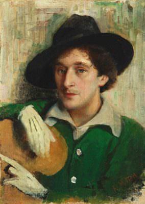 Yury_Pen_-_Portrait_of_Marc_Chagall
