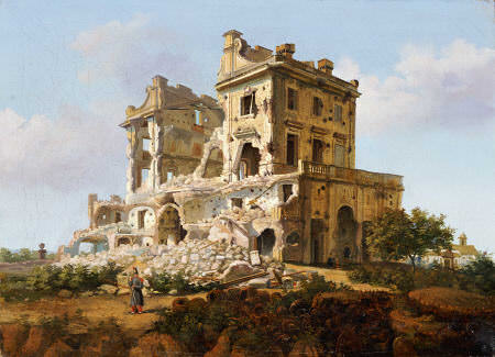 Villa Del Vascello, Al Gianicolo, Roma. French School, Late 19th Century. Oil On Canvas.