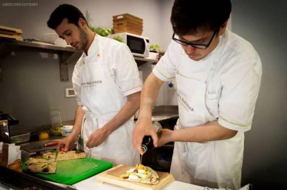 Enrico e Carmine all'evento da Bompiani