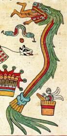il dio serpente piumato, particolare