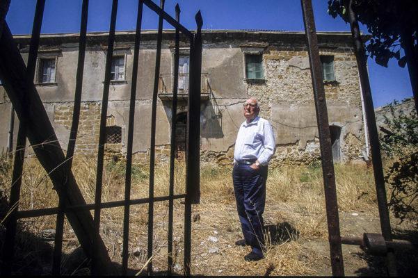 Andrea Camilleri in His House in Porto Empedocle