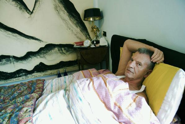 Italian writer Aldo Busi, in his house in Montichiari, Brescia