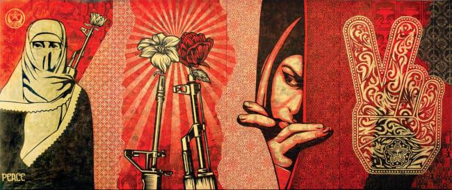 Obey Shepard Fairey_Obey Middle East Mural