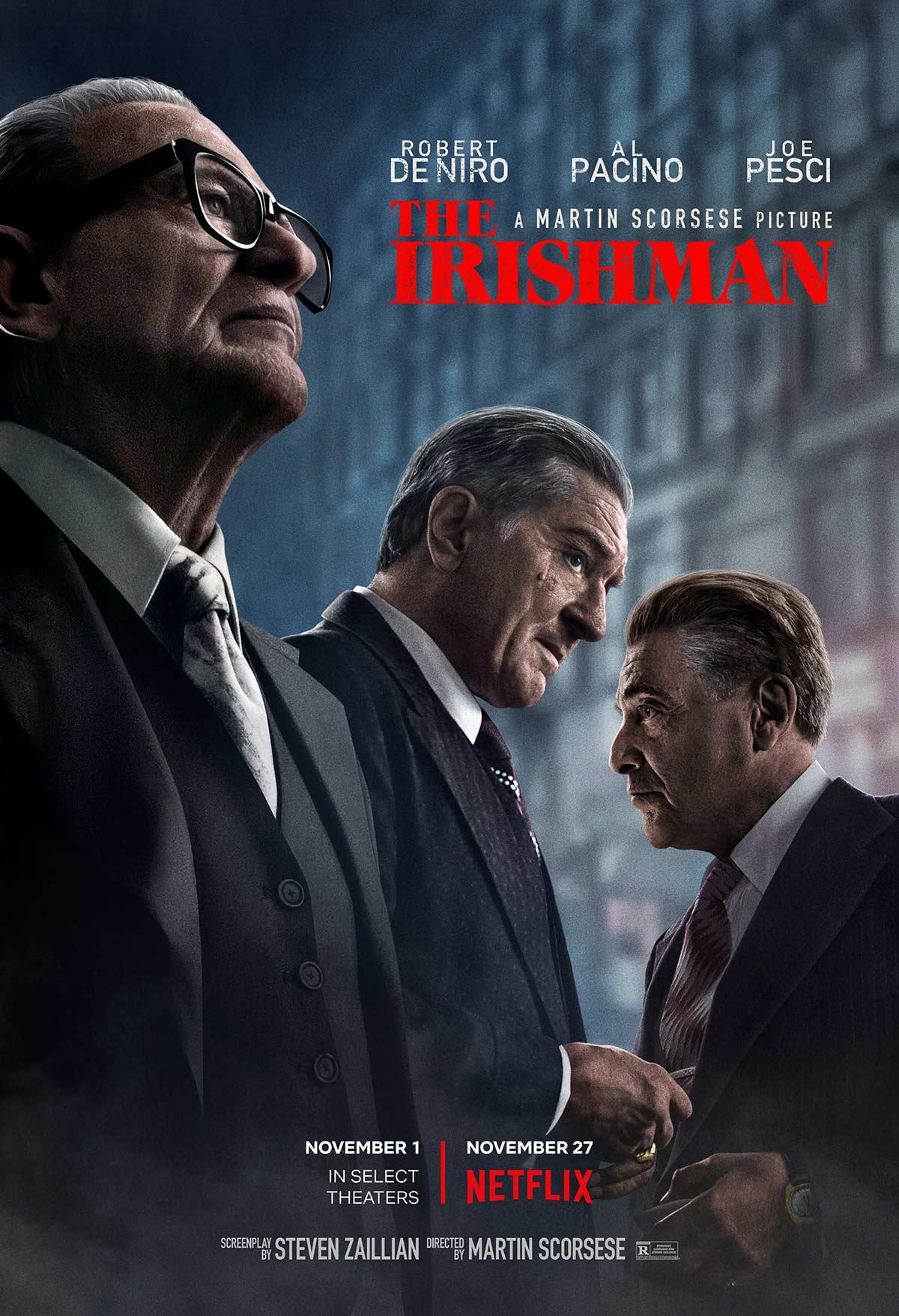 The Irishman, tre star per il lungo e lento racconto di Scorsese