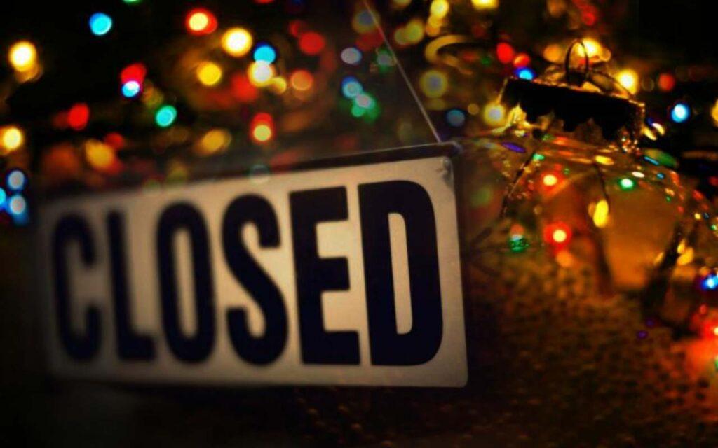 Natale chiuso